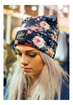 Floral print velvet Beanie | The Left Bank | ASOS