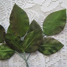 Vintage Millinery Leaves 1950s Germany Green by 32NorthSupplies, $5.95