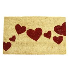 Adorable for the holidays, this heart doormat makes for a fabulous addition to your doorstep this Valentines!
