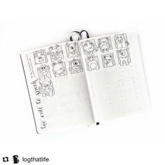 "OMG! I love this 😍😍😍 #Repost @logthatlife with @repostapp ・・・ I'm doing the ""too cute to spook"" by @therevisionguide - love it! ••• #toocutetospook #trg_30daysofmonsters #bulletjournal #bujo #challenge #monsters #haloween #drawing #cute #planner #planning #metime #simpleplanner"