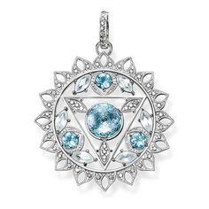 THOMAS SABO Fine Jewellery (SS) Fine Jewelry Sterling Silver Pendentif Chakra de la gorge