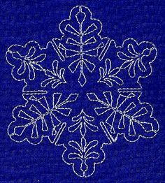 Sashiko Snowflake 5, from Embroidery Library.