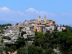 Biot - the medieval village where she is based. Population about 9000, 2,500 years old. In the south of France