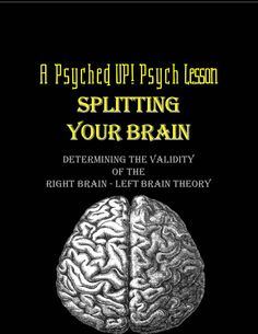Why is the right brain/left brain theory (lateralization) being criticized as psuedo-science by leading psychologists and brain scholars? Students will explore this popularized theory in depth by partaking in a fun survey, experiencing firsthand how split brain patients feel, and analyzing the claims and counterarguments presented by leading brain scientists and psychologists today.