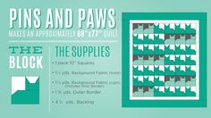New Friday Tutorial: The Pins and Paws Quilt + Giveaway!
