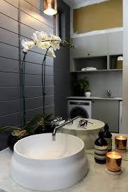The Block Glasshouse: Staircase, laundry & powder room reveals - The Interiors Addict Bathroom Inspiration, Interior Inspiration, Bathroom Ideas, The Block Room Reveals, Laundry Bathroom Combo, The Block Glasshouse, Laundry Powder, Bathtub Tile, Bathroom Essentials