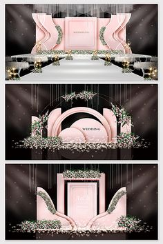 Weddings Discover Pink small fresh and beautiful wedding effect picture Wedding Backdrop Design, Wedding Reception Design, Wedding Stage Decorations, Wedding Ceremony Backdrop, Backdrop Decorations, Wedding Ideas, Wedding Table, Backdrops, Indian Wedding Receptions