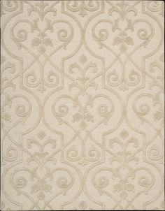 Elegantly-patterned and rendered in a luxurious monochromatic color palette of shimmering shades of sand, this exceptional rug is expertly crafted for an extravagant look and feel with undeniable sensual appeal.