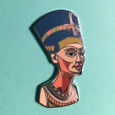 Nefertiti hard enamel pin by SaladDaysPins on Etsy