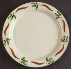 Country Holly by Lenox China Christmas China, Christmas Dishes, Christmas Tablescapes, Xmas, Christmas Dinnerware, Lenox China, Dining Decor, China Patterns, Salad Plates