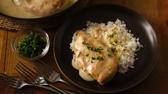 Lemon juice and grated lemon peel add an unexpected flavor kick to a simple chicken skillet supper. Serve with rice.