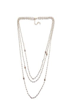 Fashion Faux Pearl Shambhala Beads Multilayer Chain Women Ladies Jewelry Necklace