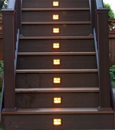 deck stair lighting ideas. deck step lighting made easy with outdoor solar lights u003cu003c designs ideas stair