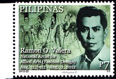 Philippines.  RAMON VALERA.  NATIONAL ARTIST FOR ALLIED ARTS (FASHION DESIGN).  iSsued 2012. pHp 7. /ldb.