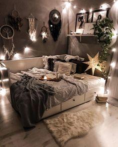 Home Interior Salas .Home Interior Salas Cute Bedroom Ideas, Room Ideas Bedroom, Small Room Bedroom, Decor Room, Small Rooms, Bedroom Inspo, Cute Bedroom Decor, Wall Decor, Master Bedroom
