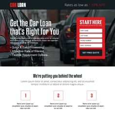 lowest interest rate for car loan responsive landing page design at a very reasonable and affordable price from buy landing page design Real Estate Website Design, Online Loans, Car Finance, Interest Rates, Payday Loans, Landing Page Design, Car Loans, Free Quotes, Sales And Marketing