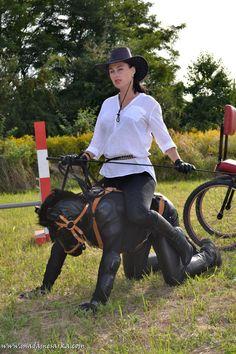 "voyageintotheheartofdarkness: "" Madame Sarka of the Czech Republic doing some elaborate pony play. """