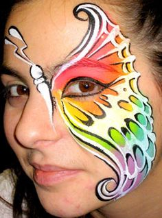 Butterfly Face Painting Colorful