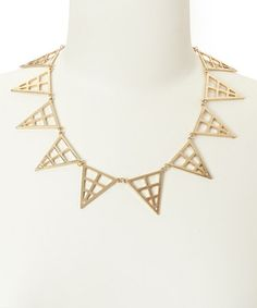 Take a look at this Gold Hollow Triangle Necklace by Eye Candy LA on #zulily today! $20 !!