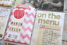 Michelle Wooderson - the On the Menu card is definitely something I want to do