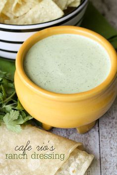 Copycat recipe for Cafe Rio's Ranch Dressing - we LOVE this stuff!! { lilluna.com }
