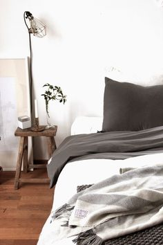 my scandinavian home: t-shirt soft luxury bed linen from Swedish firm Beach House Company. Home, Home Bedroom, Scandinavian Home, My Scandinavian Home, Bed Linens Luxury, Bed, Grey Linen Bedding, Luxury Bedding, Beautiful Bedding