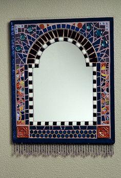 Mirror with Bead Fringe by Plum Art Mosaics, via Flickr
