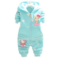 Cheap sweater brand, Buy Quality sweater deer directly from China sweater cardigan Suppliers:            Product Name:       Autumn Winter Baby Girls Clothes Set Kid Hello Kitty Thicken Warm Kid Clothes