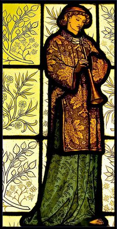 England | William Morris stained glass, Cliffe Castle, Keighley, West Yorkshire, late 19th C.