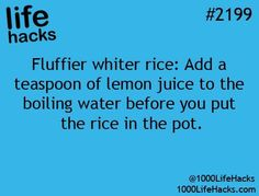 Fluffier white rice