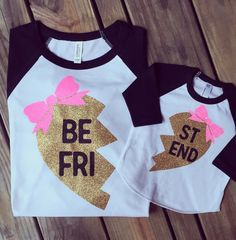 Best Friends Raglan Shirts, Mommy and Me Shirts, Twins Shirts, Sisters Shirts,Sibling Shirts, Hipster Shirt, Gold Glitter Shirts unisex size