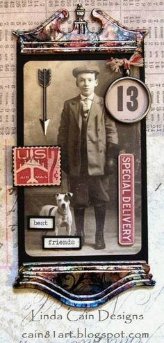 Liinda Cain -Best Friends - A Boy and His Dog