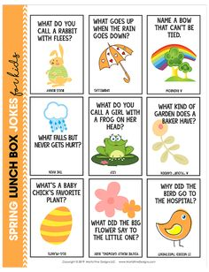 Skip the boring school lunches, pack your kid's lunch with these funny and free printable Spring Lunch Box Jokes for Kids. Fun for kids of all ages, they will have the whole lunch table laughing! Funny Riddles, Cute Jokes, Jokes And Riddles, Funny Jokes For Kids, Dad Jokes, Summer Jokes For Kids, Toddler Jokes, Hilarious Jokes, Silly Jokes