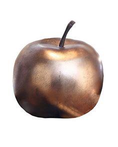 """Deko-Apfel """"Metallic"""", kupfer Polystein in edlem Kupferton, Kunststoffstiel lässt sich leicht einstecken, möbelschonende Kunststoffnoppen an der Unterseite Ø 14 x 13 cm, GH 17 cm, Stückpreis, http://www.amazon.de/dp/B0161O5ASU/ref=cm_sw_r_pi_awdl_x_DR5-xb5K84AV5"""