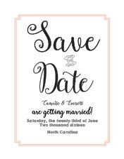 Utterly Chic Save-the-Date Cards