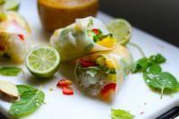 Summer Rolls with Mango, Mint & Avocado