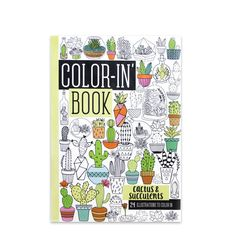 Chillin' on the beach, waiting in the car or catching a flight, make the most of your spare time with your fav' coloring in book. This gorgeous Cactus & Suc