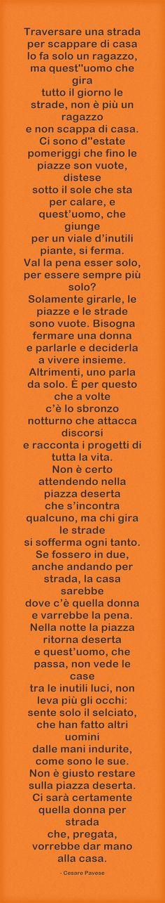 Lavorare stanca - Cesare Pavese