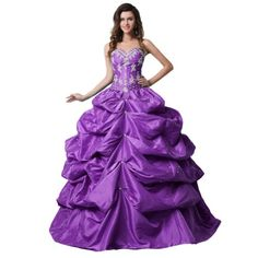 Purple Dress - Pin It :-) Follow Us :-))  azDresses.com  is your  Dresses Product Gallery.  CLICK IMAGE TWICE for Pricing and Info :) SEE A LARGER SELECTION of Purple dress at http://azdresses.com/category/dress-categories/dresses-by-color/purple-dress/ - women, womens fashion, womens dresses, dress  - Sunvary 2013 Sexy Ball Gown Skirt Sweetheart Neckline Taffeta Quinceanera Dresses Prom Party Dresses Long with Appliques- US Size 16W- Purple « AZdresses.com