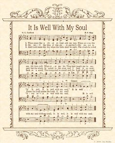 Wow...Can't believe it... This is also  one of my  favorites song...It is well with my soul