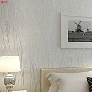 New+Rainbow™+Contemporary+Wallpaper+Art+Deco+3D+Flocking+Wallpaper+Wall+Covering+Non-woven+Fabric+Wall+Art+–+AUD+$+45.75