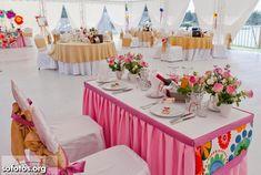 Decoração para casamento rosa, branco, e dourado