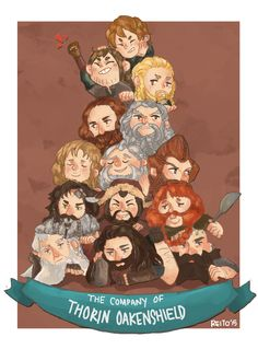 The Company of Thorin Oakenshield King under the mountain (of dwarves +1 Hobbit)