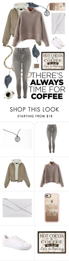 """Coffee Date"" by solfrid-holte-johansen ❤ liked on Polyvore featuring Rune NYC, Topshop, Lancaster, Casetify and CoffeeDate"