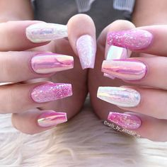 Charlottes nails using @glamandglitsnails in Basic Inspink Link in bio
