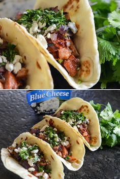 We've been working with our friends over at @treasurecavech on the perfect backyard-cookout staple...Barbecue Chicken Tacos with Onions and Blue Cheese! You won't regret serving this up at your next bbq bash! #ad