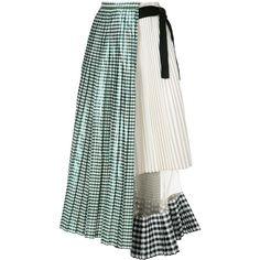 Shop designer pleated skirts at Farfetch. Green Pleated Skirt, Gingham Skirt, Pleated Skirts, Skirt Fashion, Fashion Dresses, Steampunk Fashion, Gothic Fashion, Capsule Wardrobe Women, Iranian Women Fashion