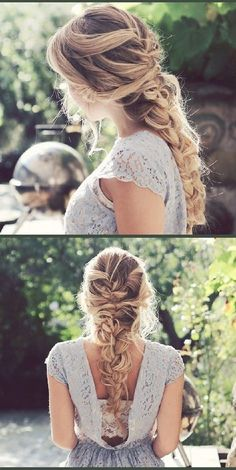 Popular on Pinterest: 7 Different French Braids.  Show off your boho style with a messy French braid like this one originally pinned from   'Inspo by Elvirall'.