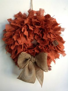 Hoping to add this to my fall collection! Fall Burlap Wreath Halloween Wreath Orange Wreath by JBJunkMarket, $45.00