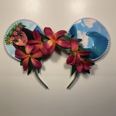 Unique, high quality, handcrafted, custom Mickey Mouse ears.